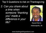 Questions to ask on Thanksgiving 2