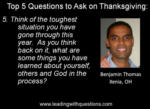 Questions to ask on Thanksgiving 5
