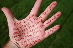 jer 29 11 written on my palm